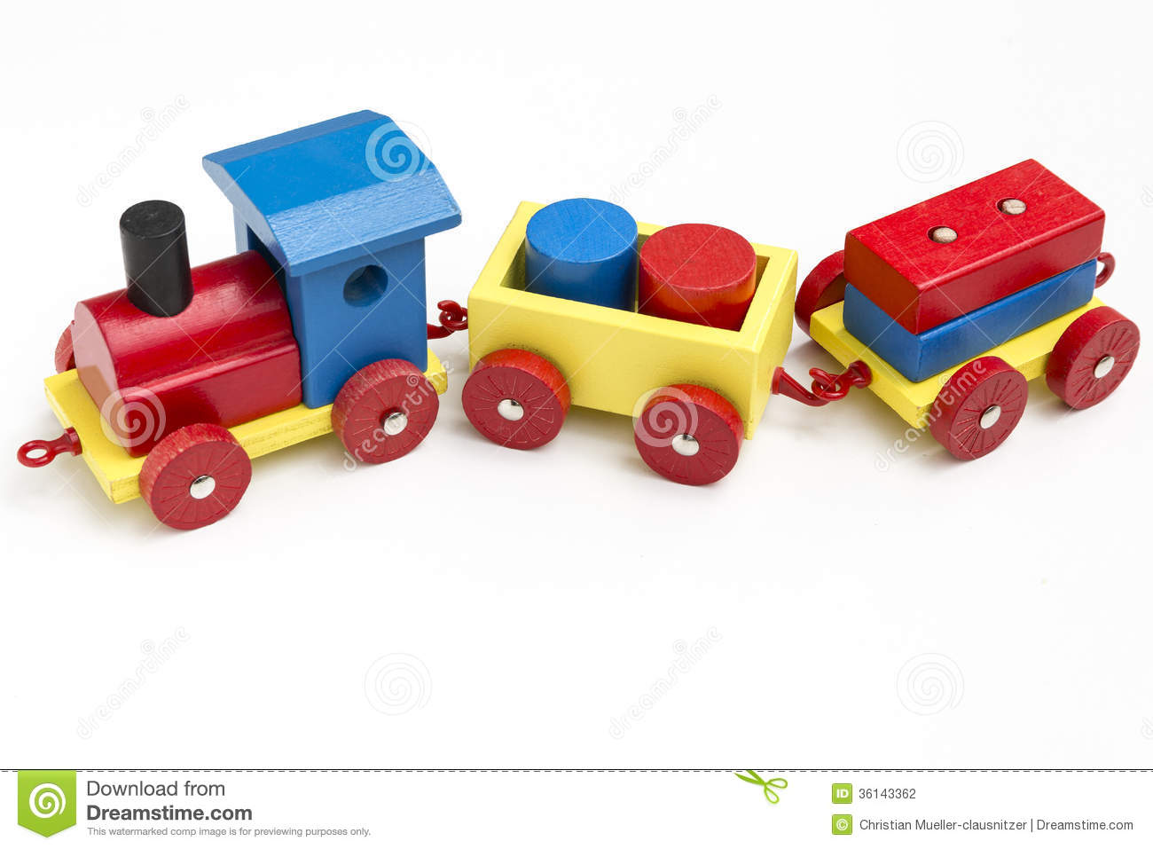 Wooden Train Stock Photography - Image: 36143362