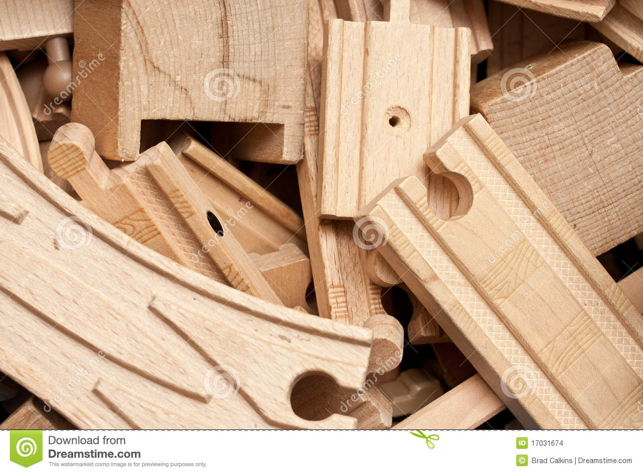 Wooden Train Tracks Stock Images - Image: 17031674