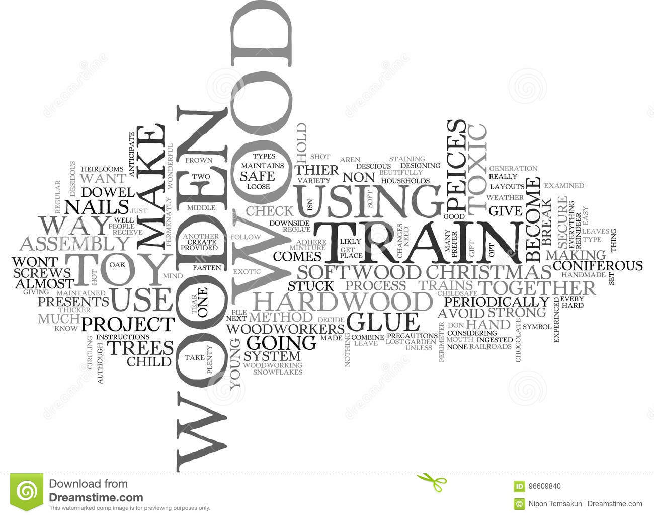 Wooden Trains Word Cloud Stock Illustration Illustration Of Black