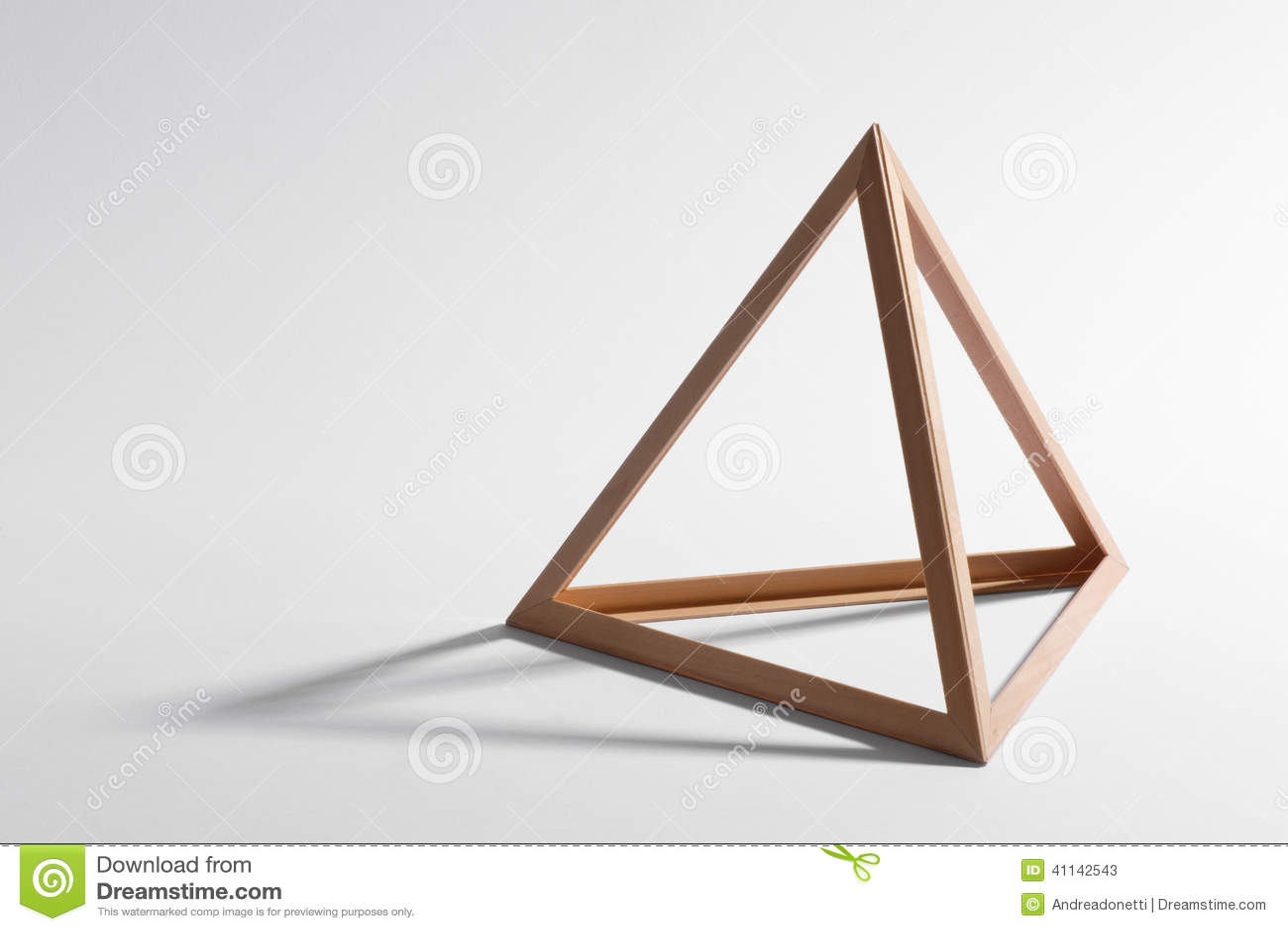 wooden triangular frame stock photos