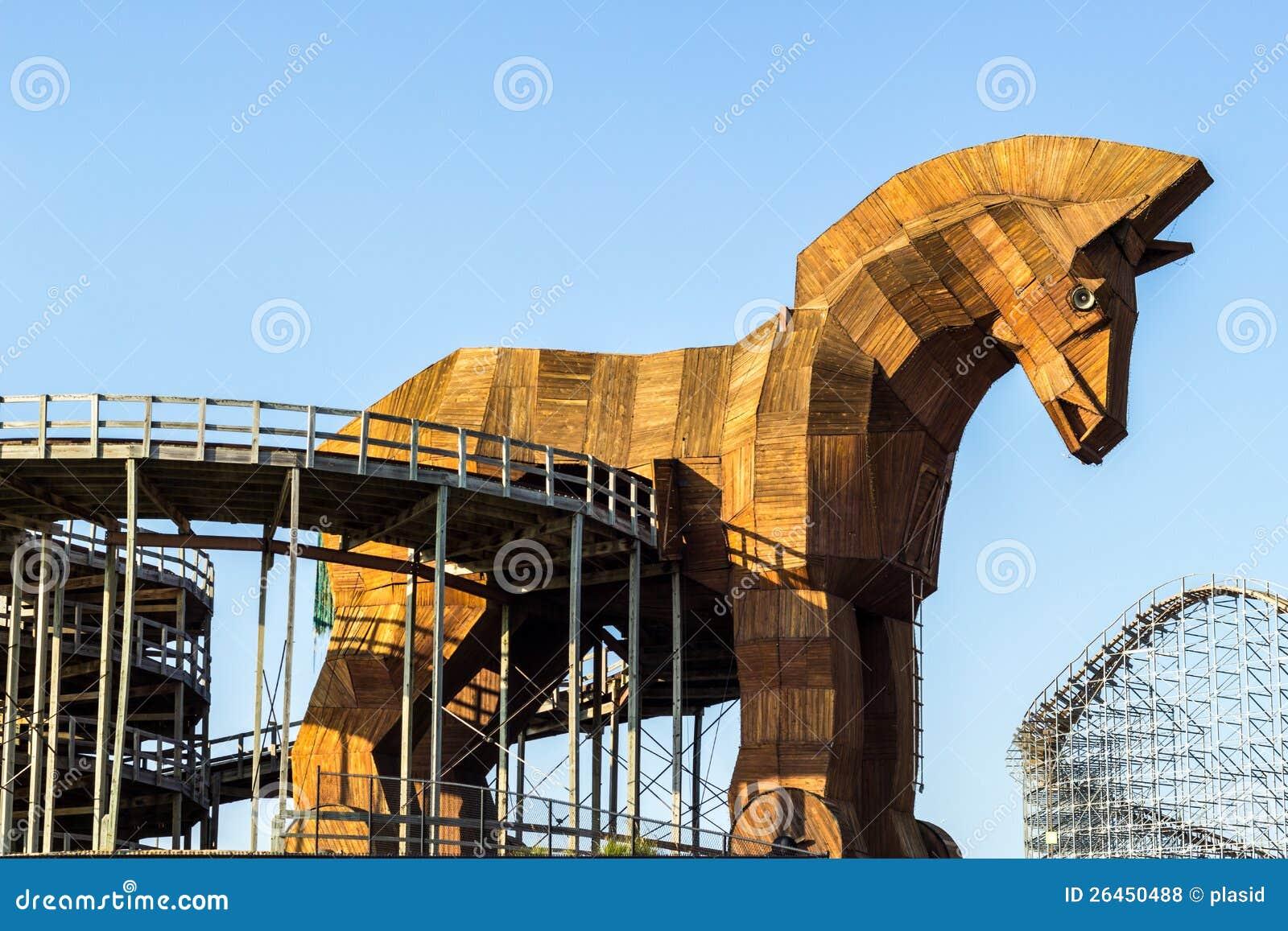 Wooden Trojan Horse Royalty Free Stock Photos