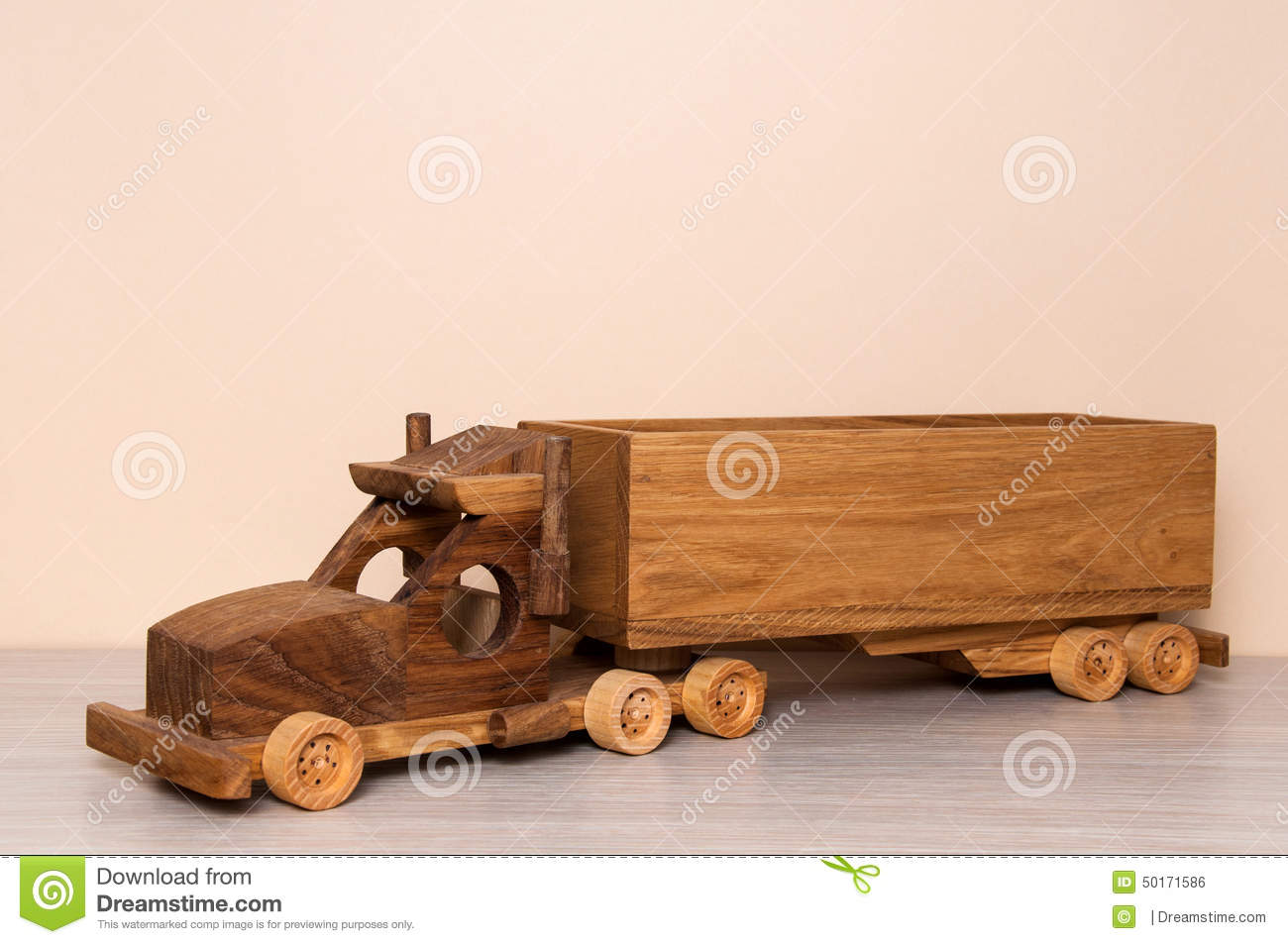 Wooden Truck Toy Stock Photo - Image: 50171586