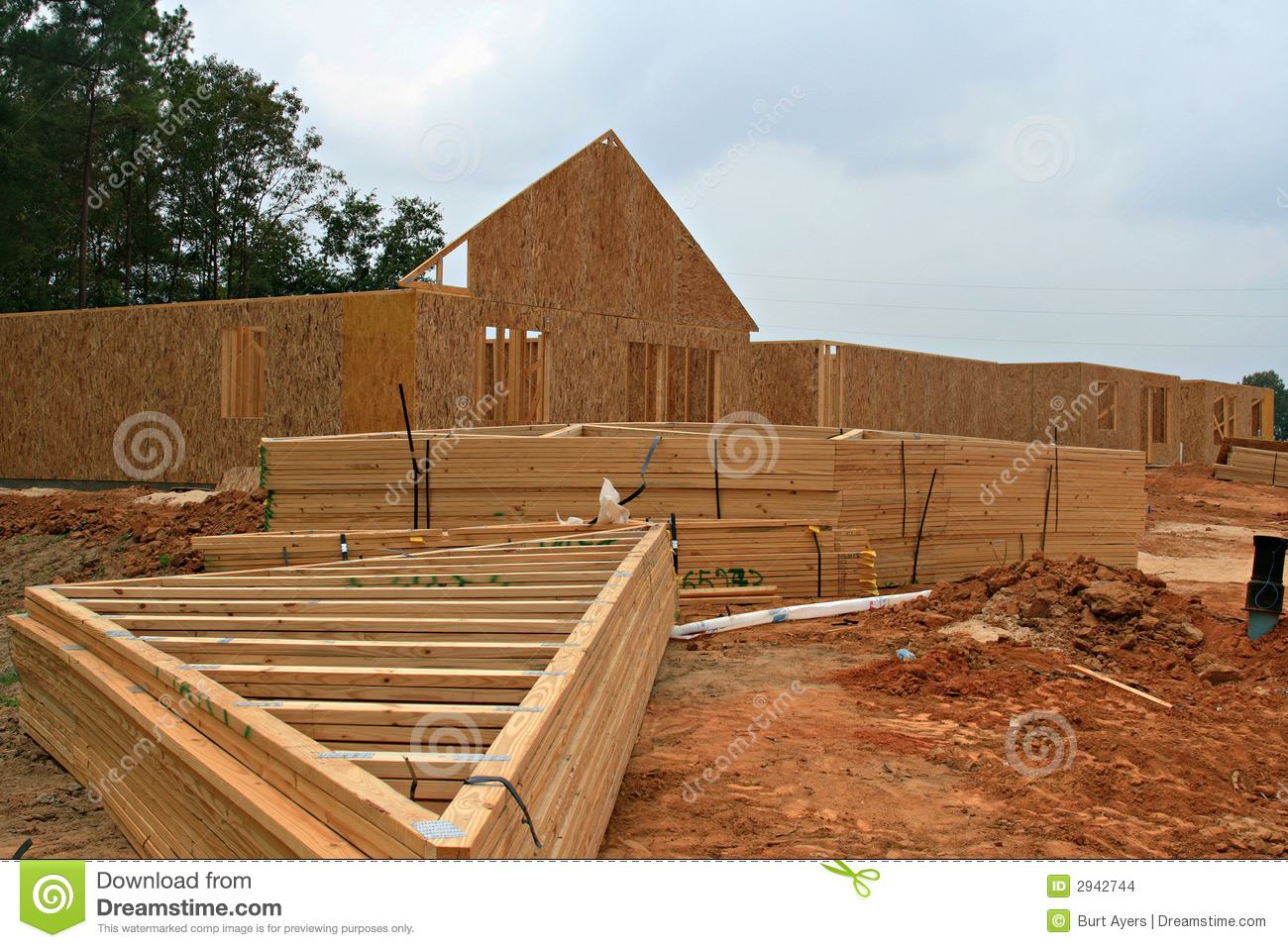 Wooden Truss Stock Images Image 2942744