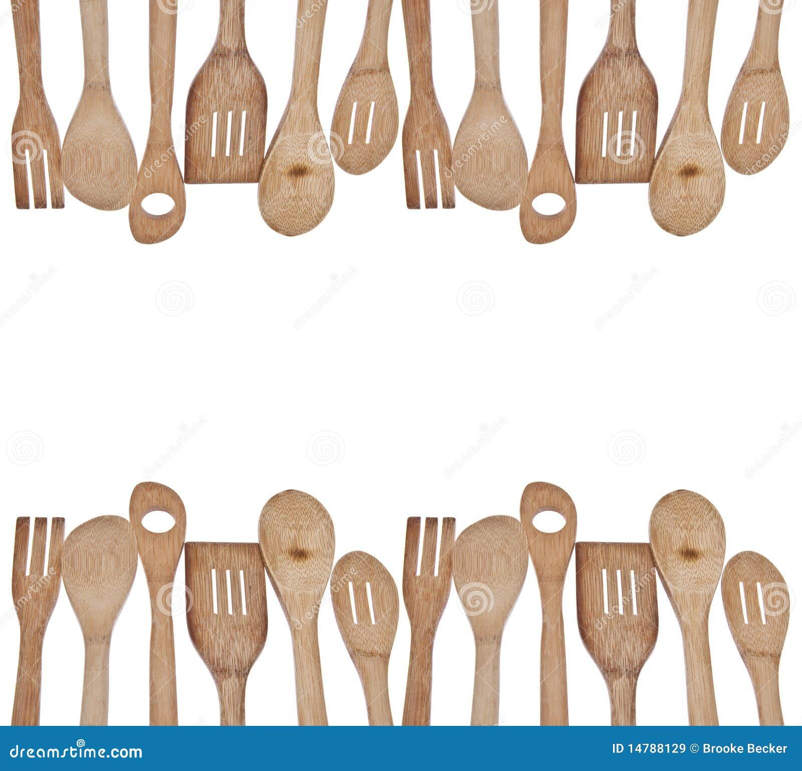 Kitchen utensil clip art - Wooden Utensil Border Royalty Free Stock Images Image
