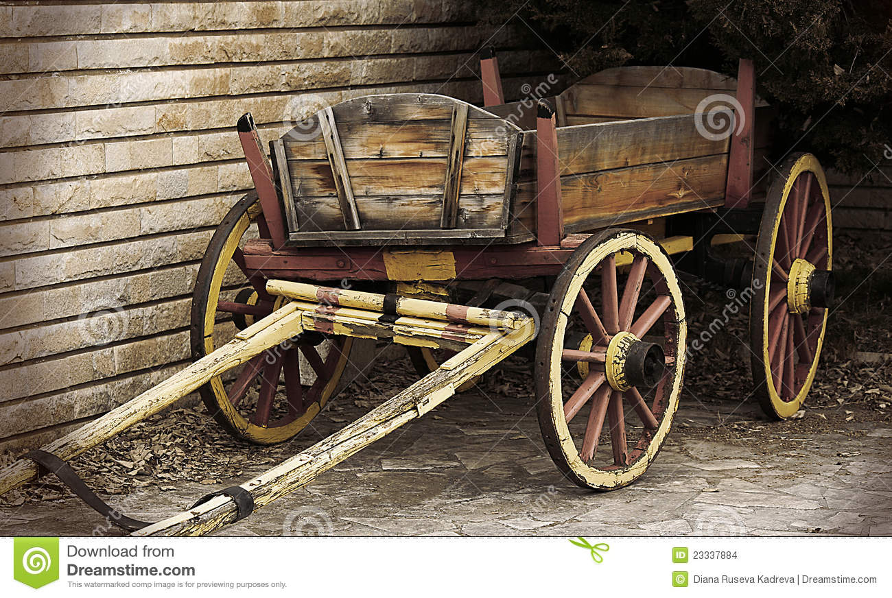 Wooden Wagon Stock Photo. Image Of Cobblestones, Wooden