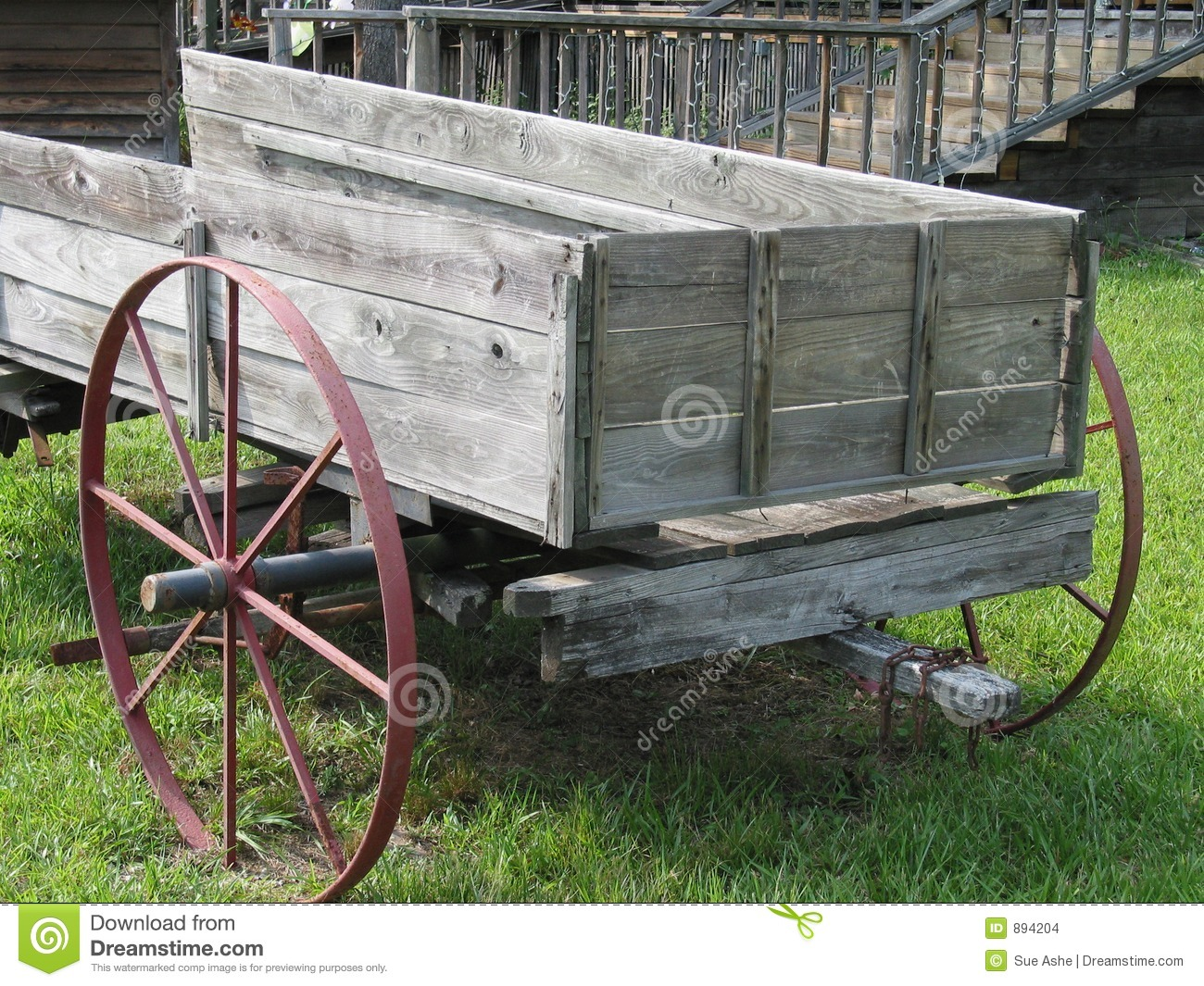 Old Wooden Wagon Stock Photo & Stock Images | Bigstock