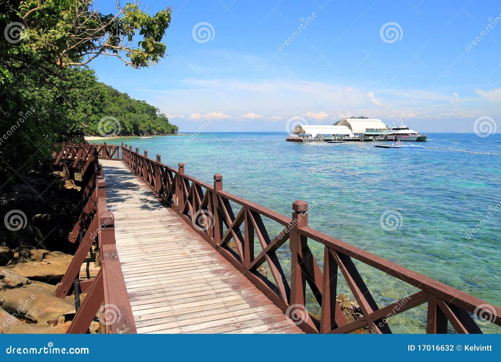 Wooden Walking Path at Beach