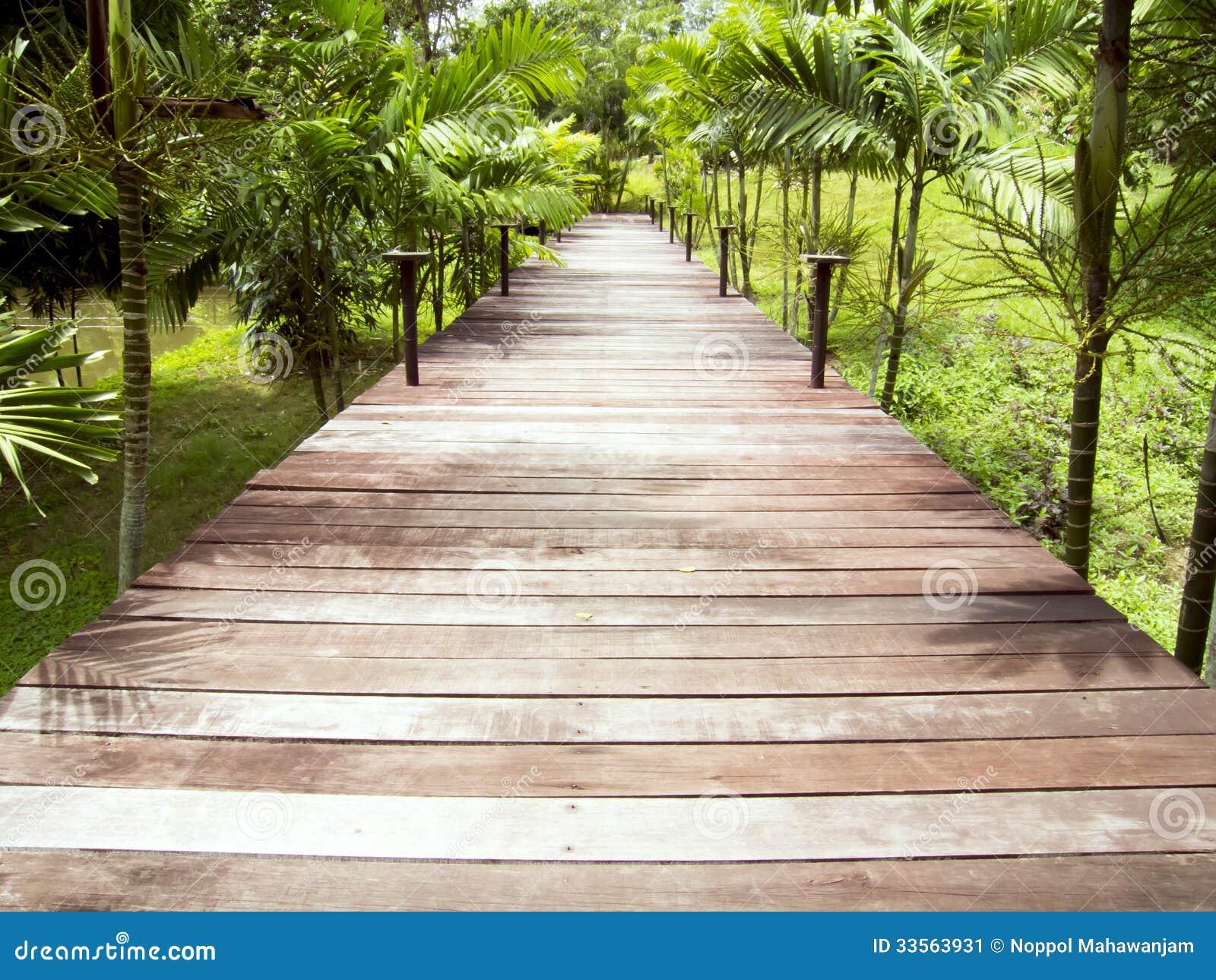 Wooden walkways stock image image 33563931 - Garden wooden walkways ...