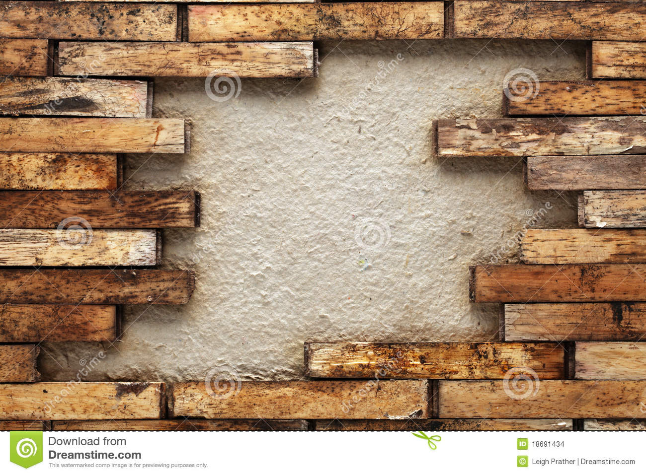 Wooden Wall Stock ImagesImage 18691434