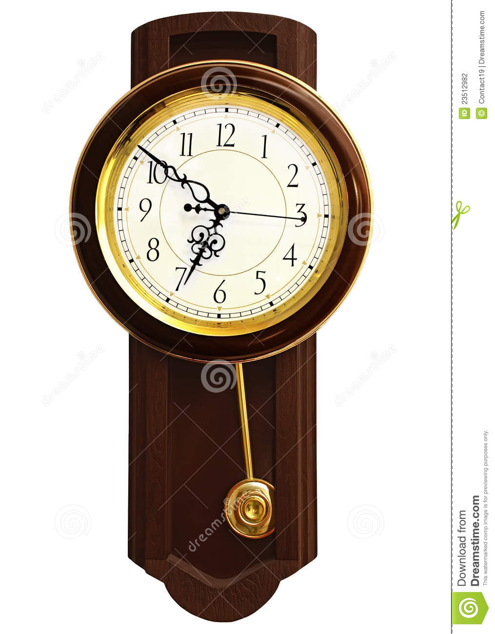 Wooden Wall Clock Stock Photography - Image: 23512982