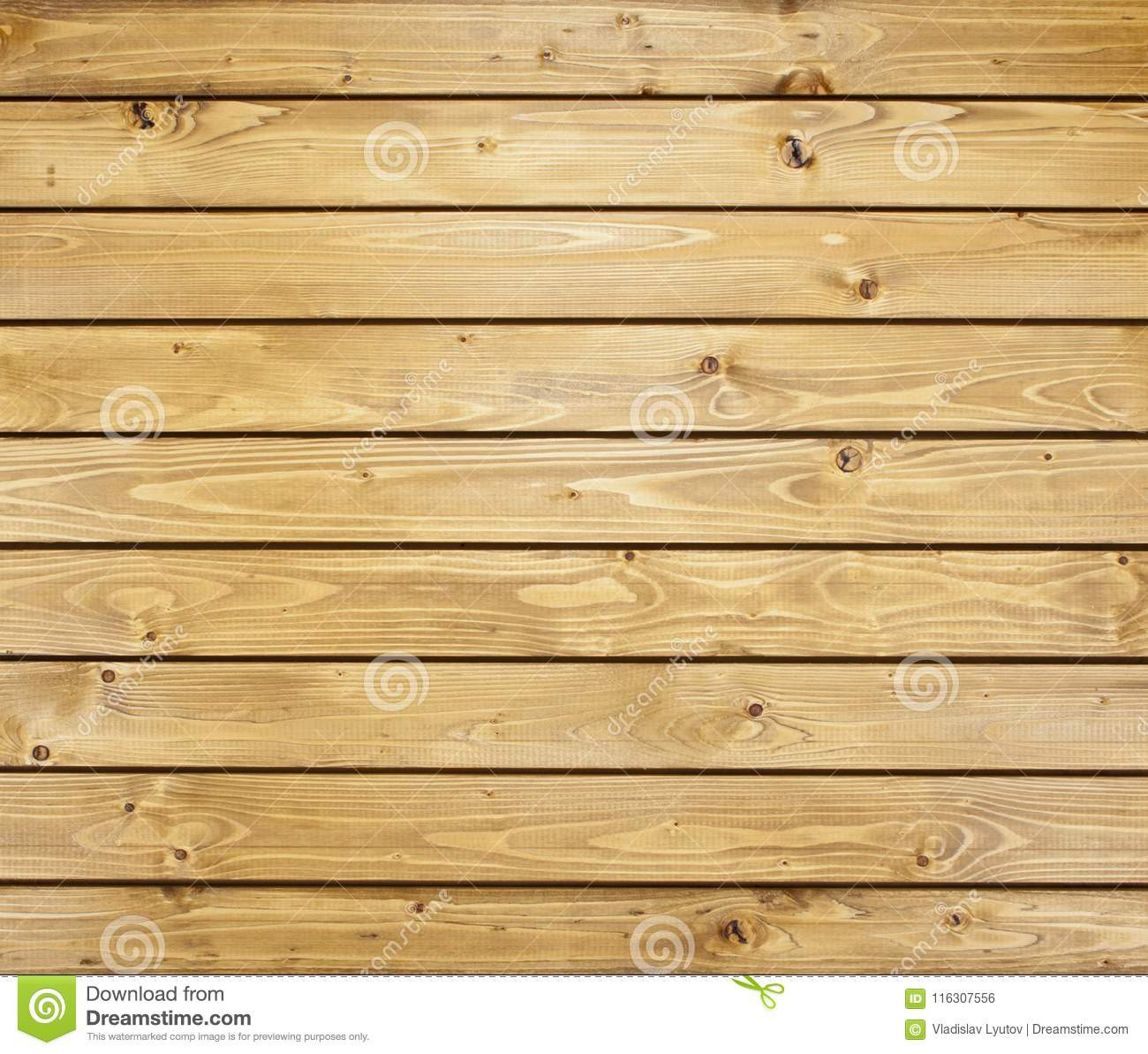 Wooden Wall With Horizontal Planks. Close Up Of An Old Wooden Fence ...