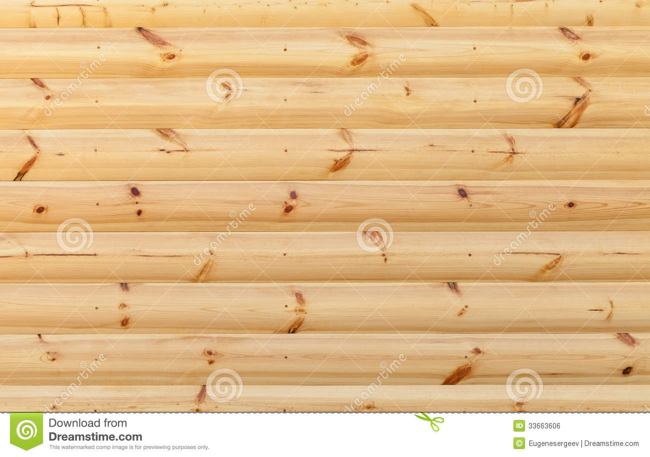 Wooden wall made of pine tree boards stock photo image