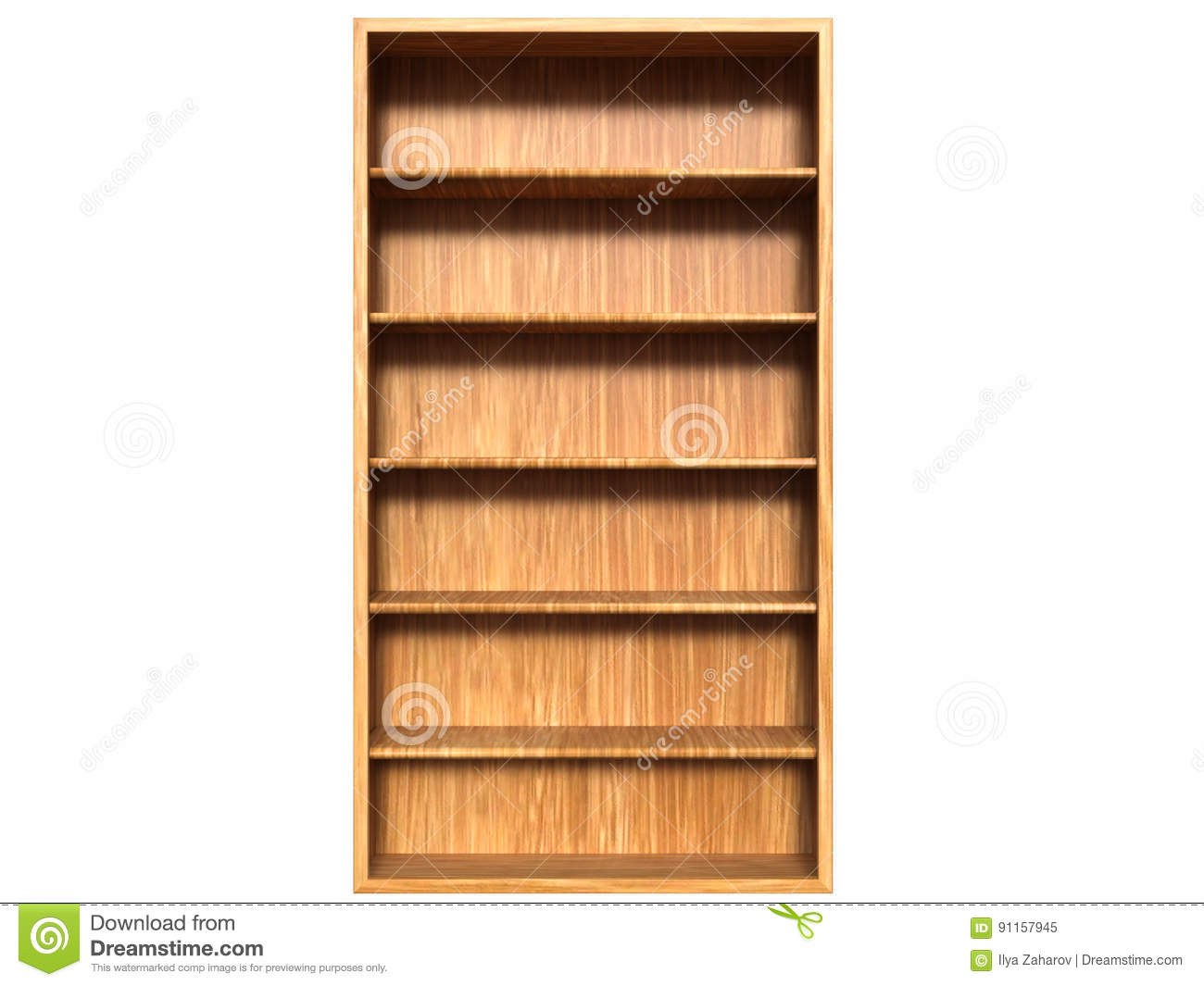 A Wooden Wardrobe From Light Brown Wood And Empty Shelves Stock ... for Wardrobe Front View  155sfw