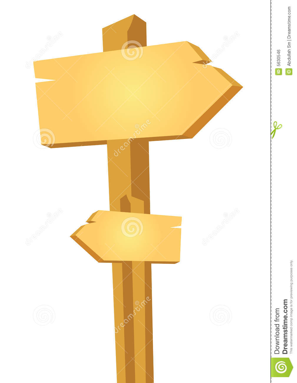 Wooden Way Board - Vector Royalty Free Stock Image - Image: 5630546