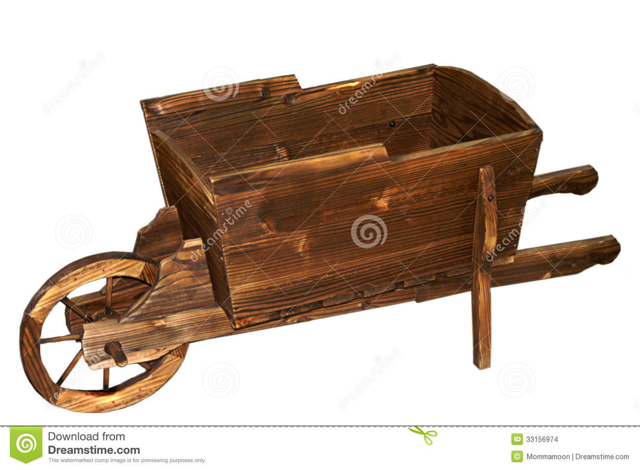 Wooden Wheelbarrow Stock Images - Image: 33156974