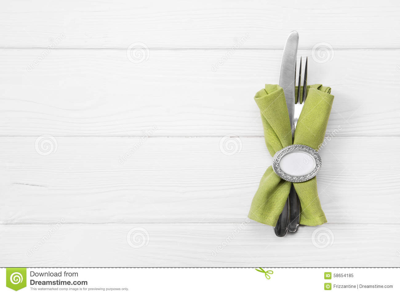 67 Best Images About Napkin Rings Menu Cards On: Wooden White Background For A Menu Card With Cutlery In