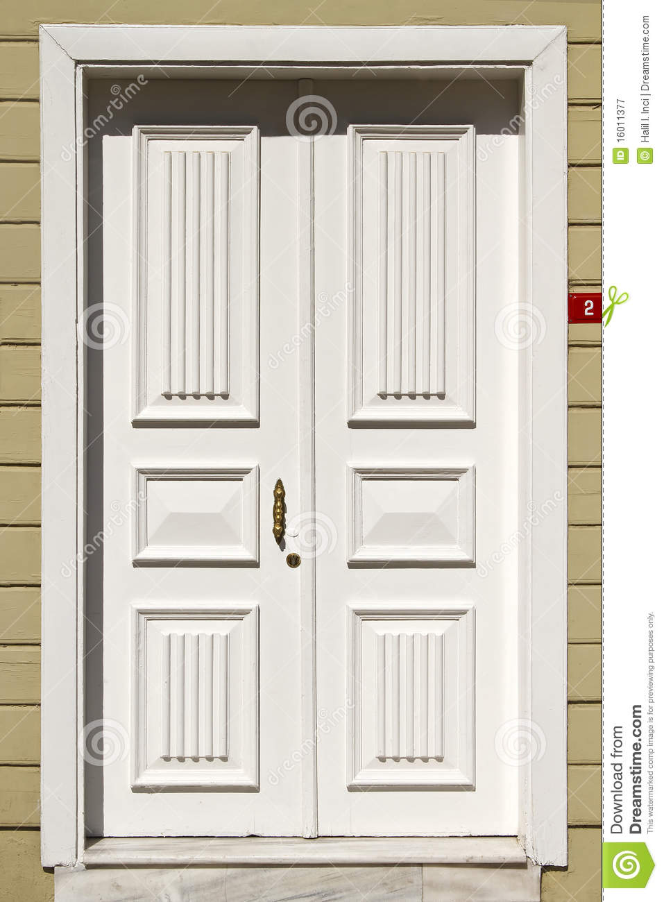Wooden white front door stock image Image of residence 16011377