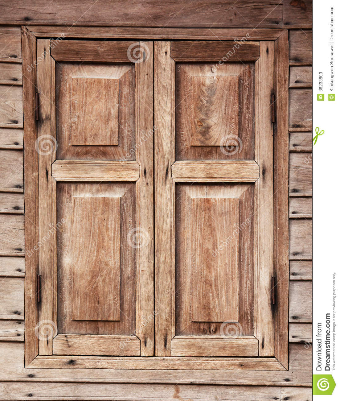 Wooden Window Of Asian House Background Stock Image ...