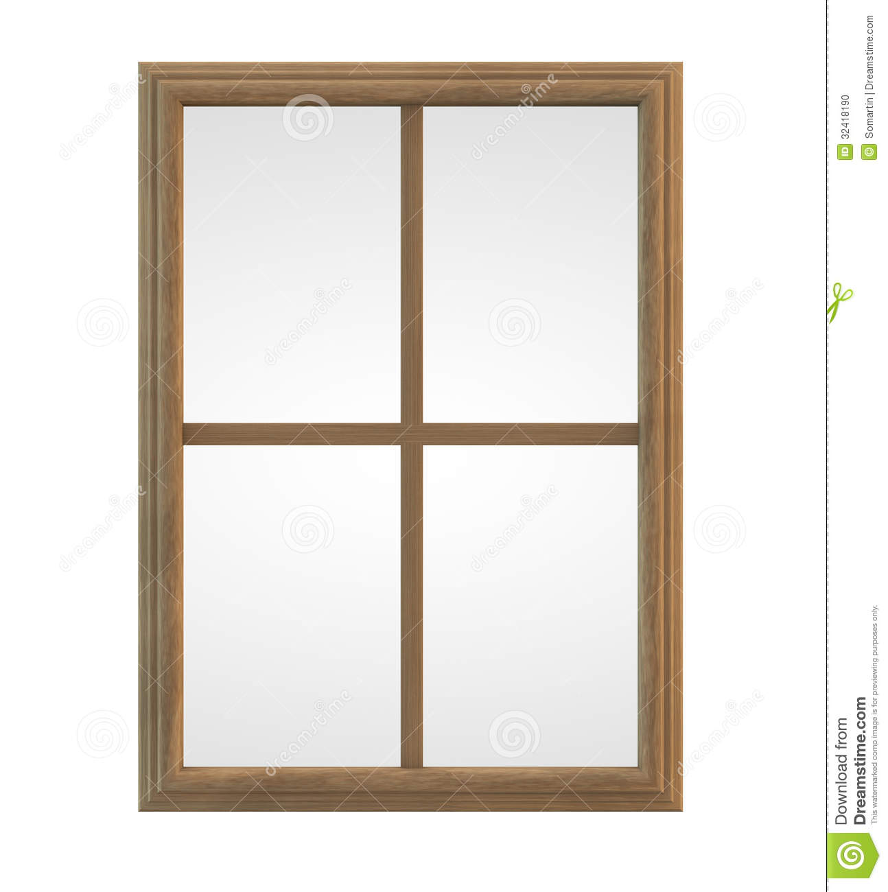 Wooden Window Frame Stock Photo - Image: 32418190