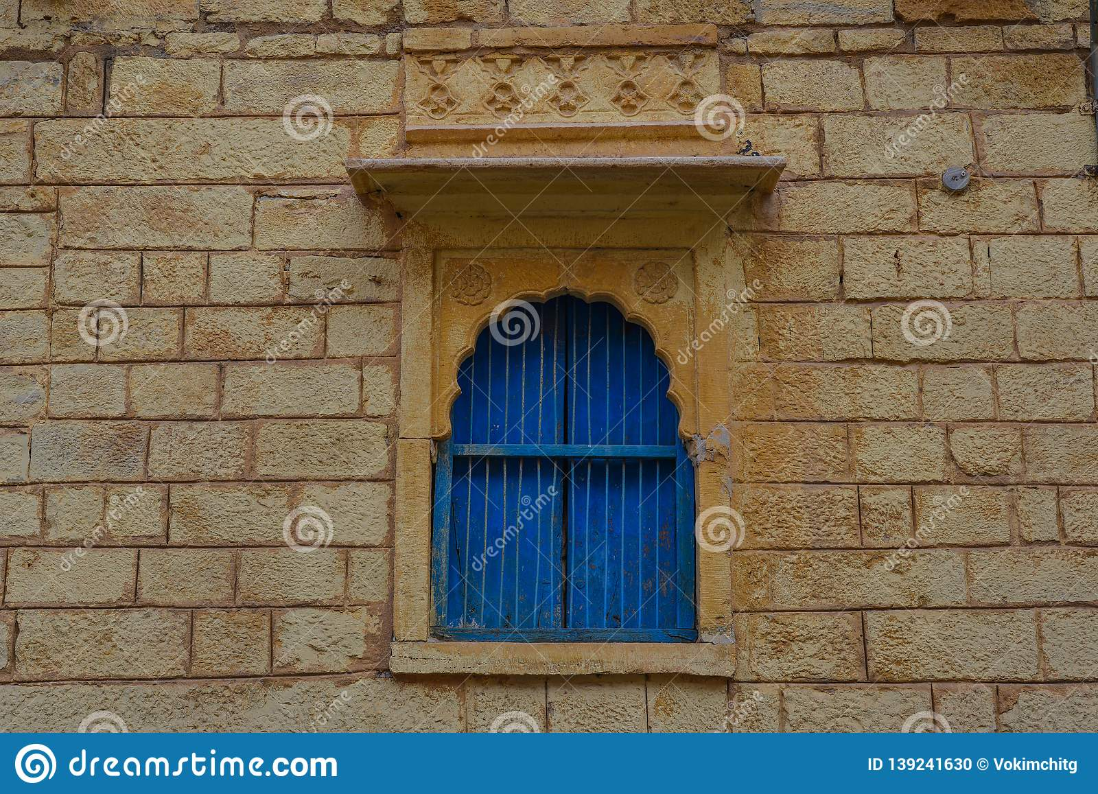 Wooden window of old house