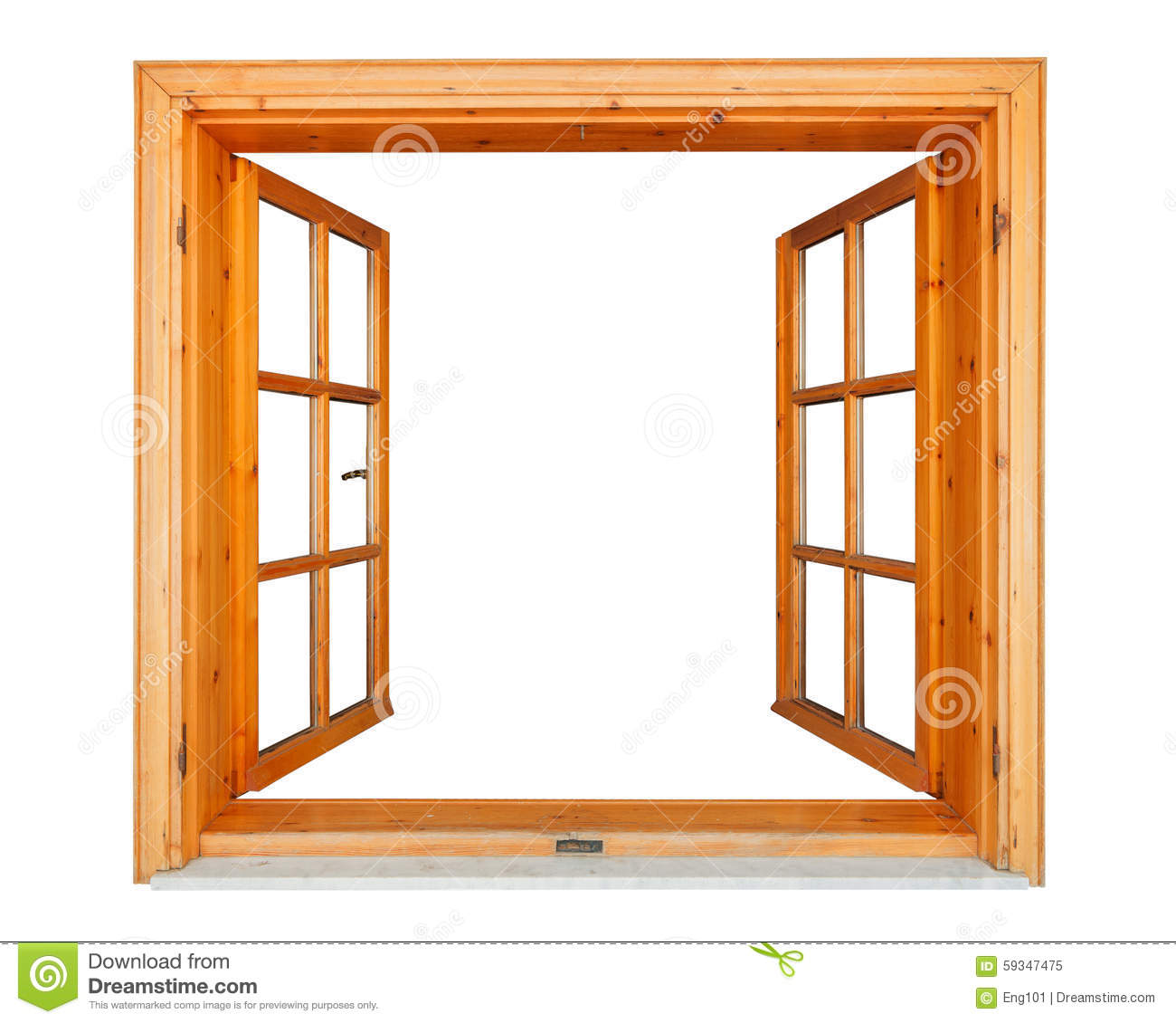Wooden window open with marble ledge stock photo image for Fenster offen