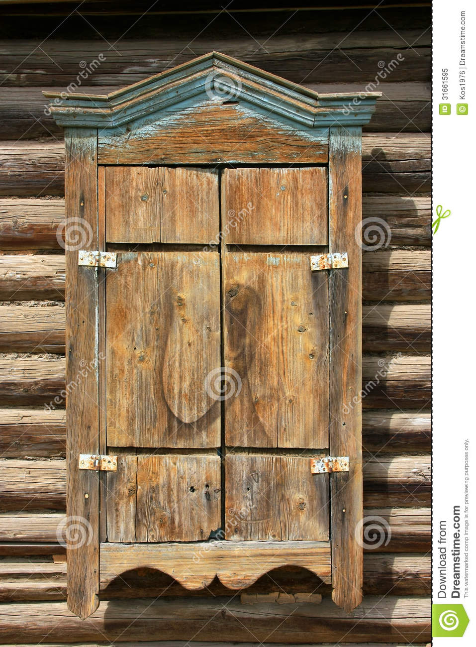 Wood Shutters Closed : Wooden window shutters closed royalty free stock photo