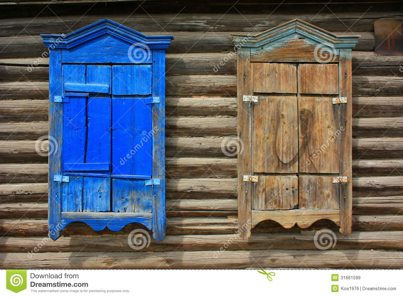Wood Shutters Closed : Wooden window shutters closed royalty free stock images