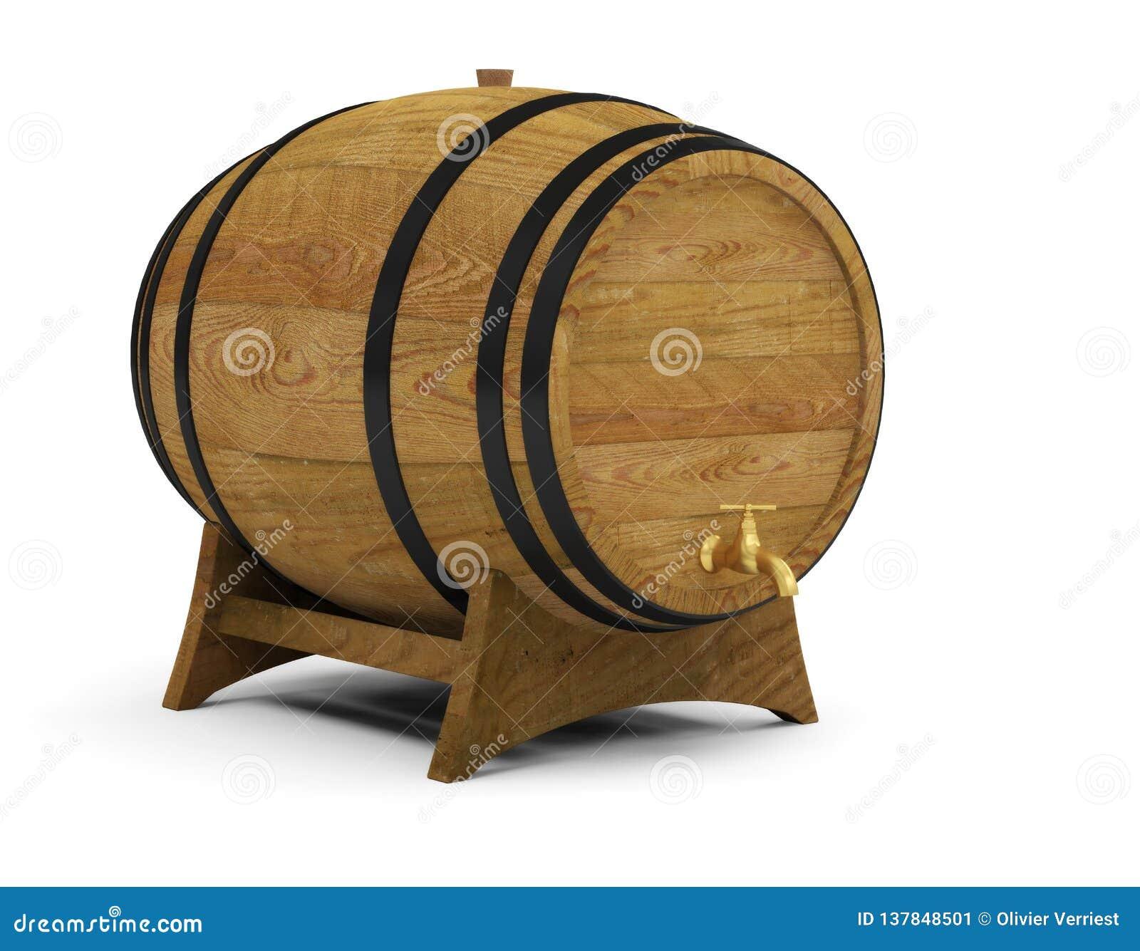 Wooden wine barrels alcohol beer barrel