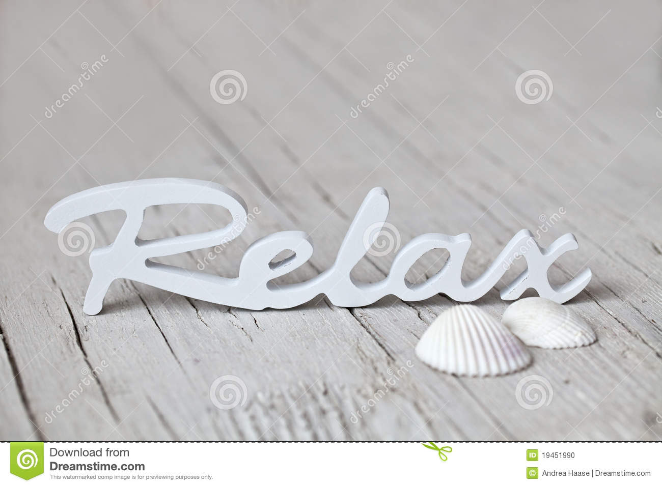 Wooden Word Relax Stock Photo Image 19451990
