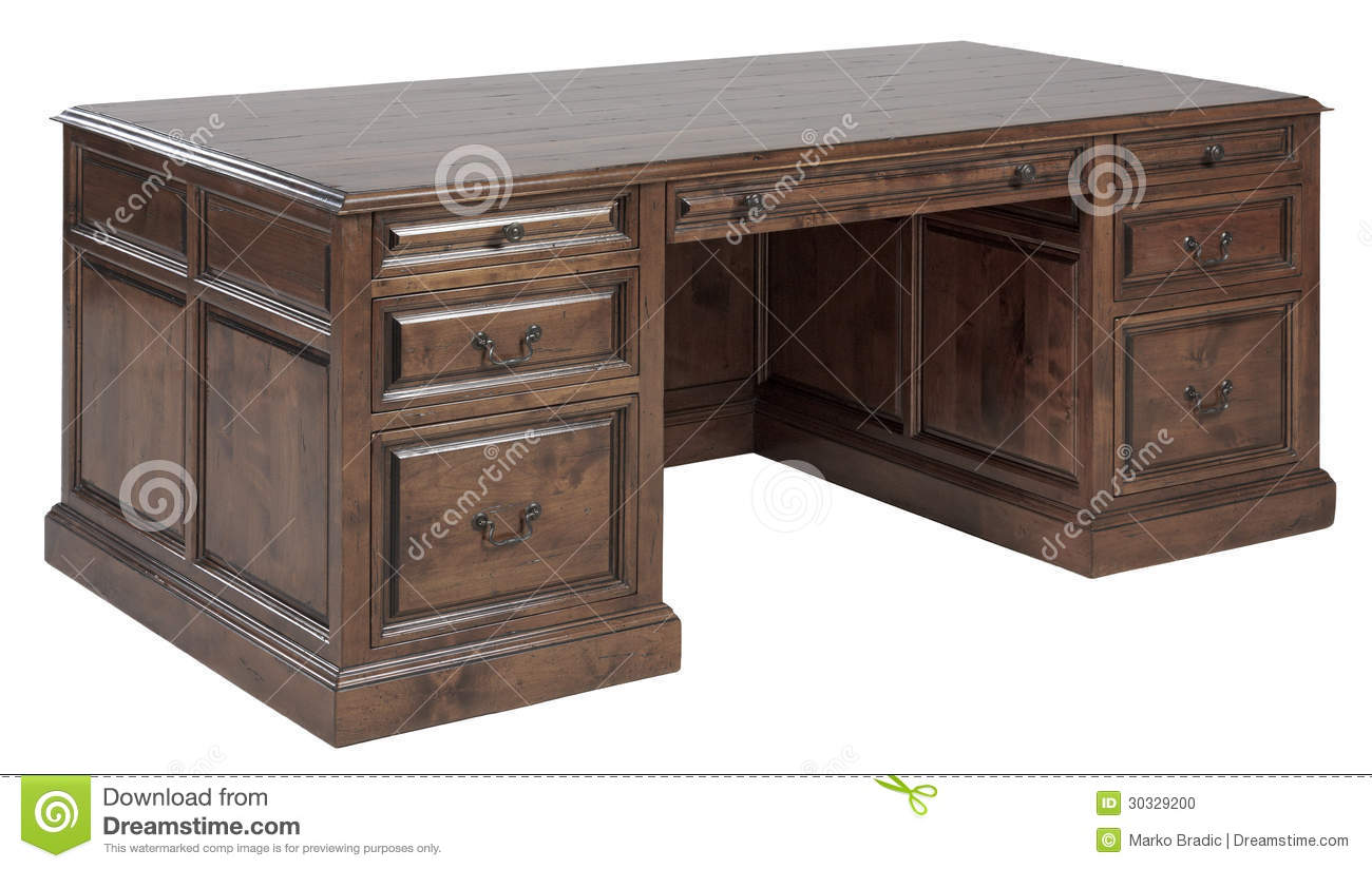 Amazing photo of Massive wooden writing desk with drawers. with #85A724 color and 1300x824 pixels