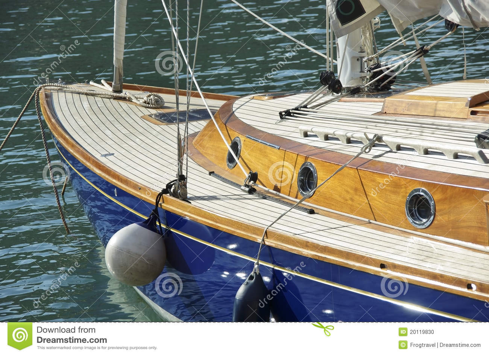 Wooden Yacht Stock Photo - Image: 20119830