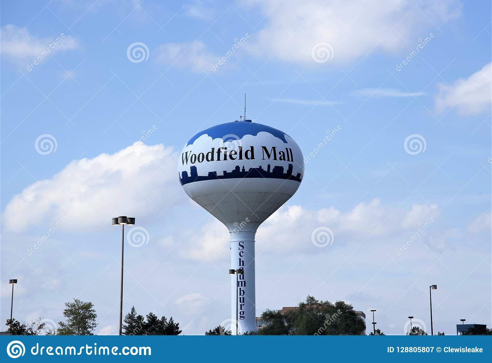 Woodfield Mall Water Tower, Schaumburg, IL Editorial