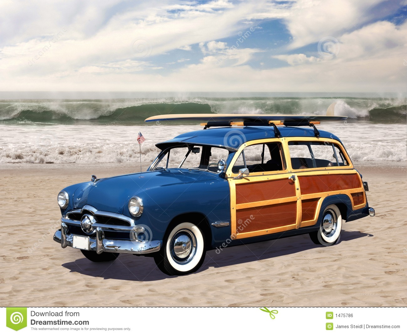 Woodie On The Beach Royalty Free Stock Image Image 1475786