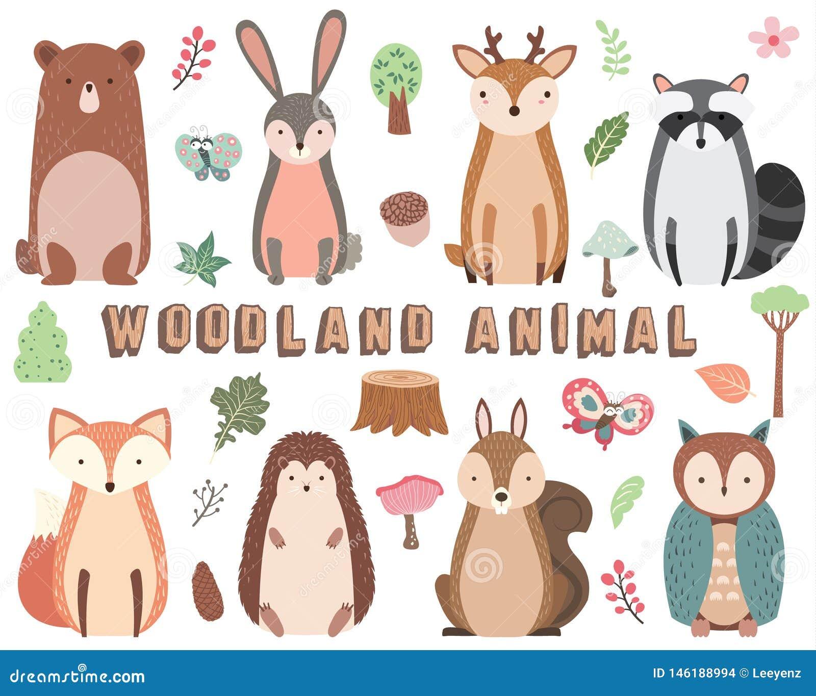 Woodland Animal Elements Set