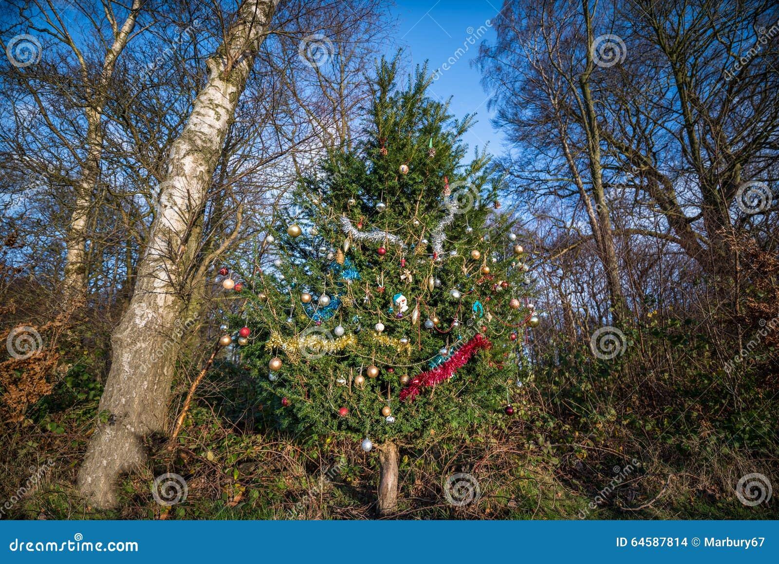 Woodland Christmas Decorations.Woodland Christmas Tree Stock Photo Image Of Decorated