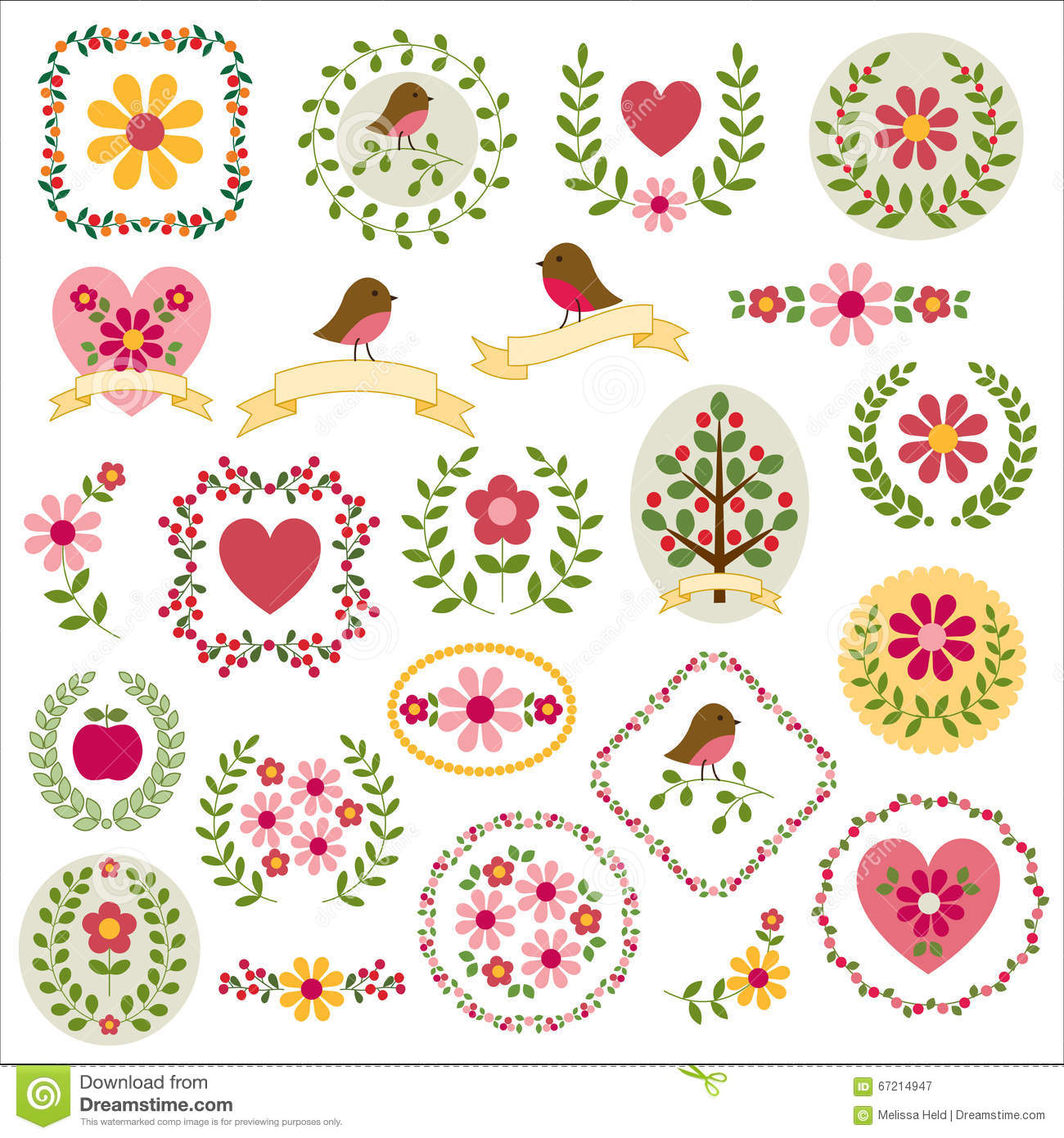 Woodland crests clipart