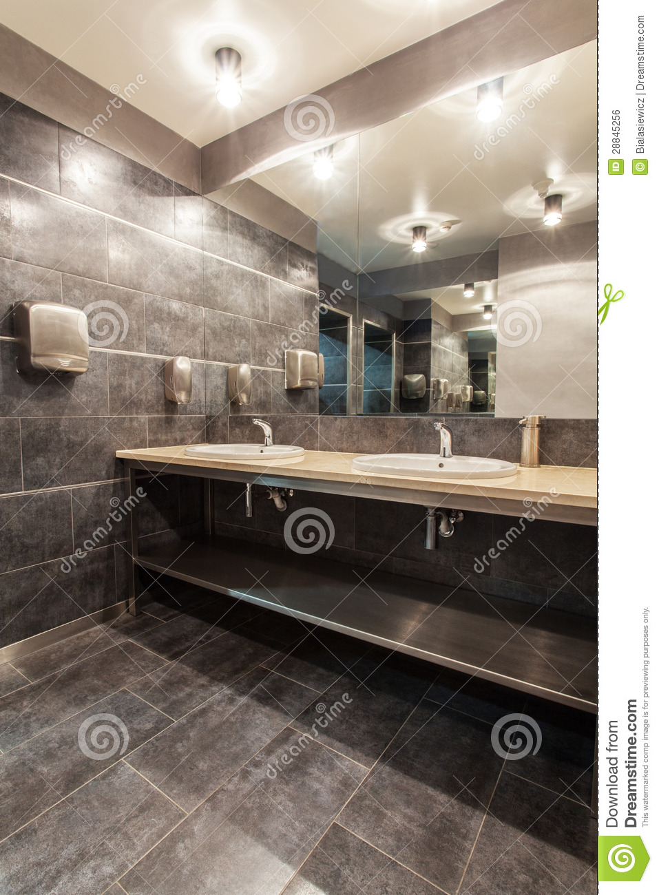 Woodland hotel public bathroom royalty free stock image for Y hotel shared bathroom