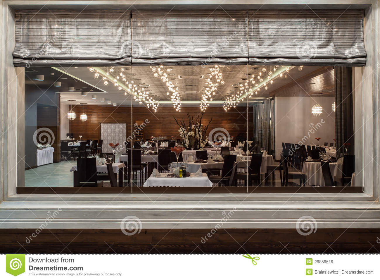Woodland Hotel Restaurant Royalty Free Stock Images