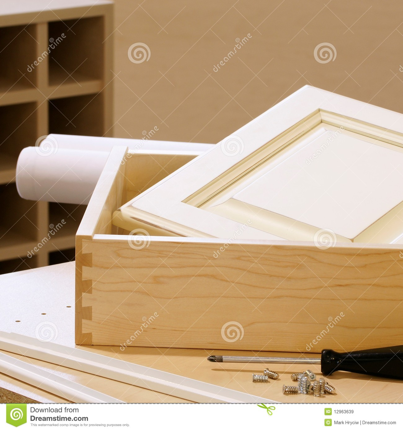 Wonderful image of Woodworking Cabinet Construction Royalty Free Stock Images Image  with #2F1C08 color and 1300x1390 pixels