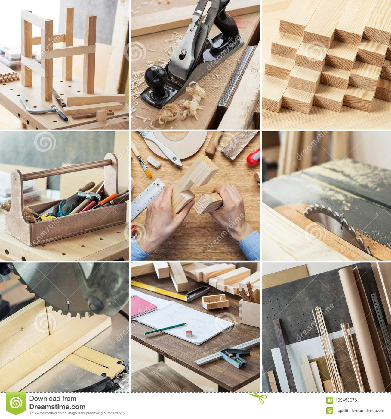 Woodworking And Carpentry Set Stock Photo Image Of Desk