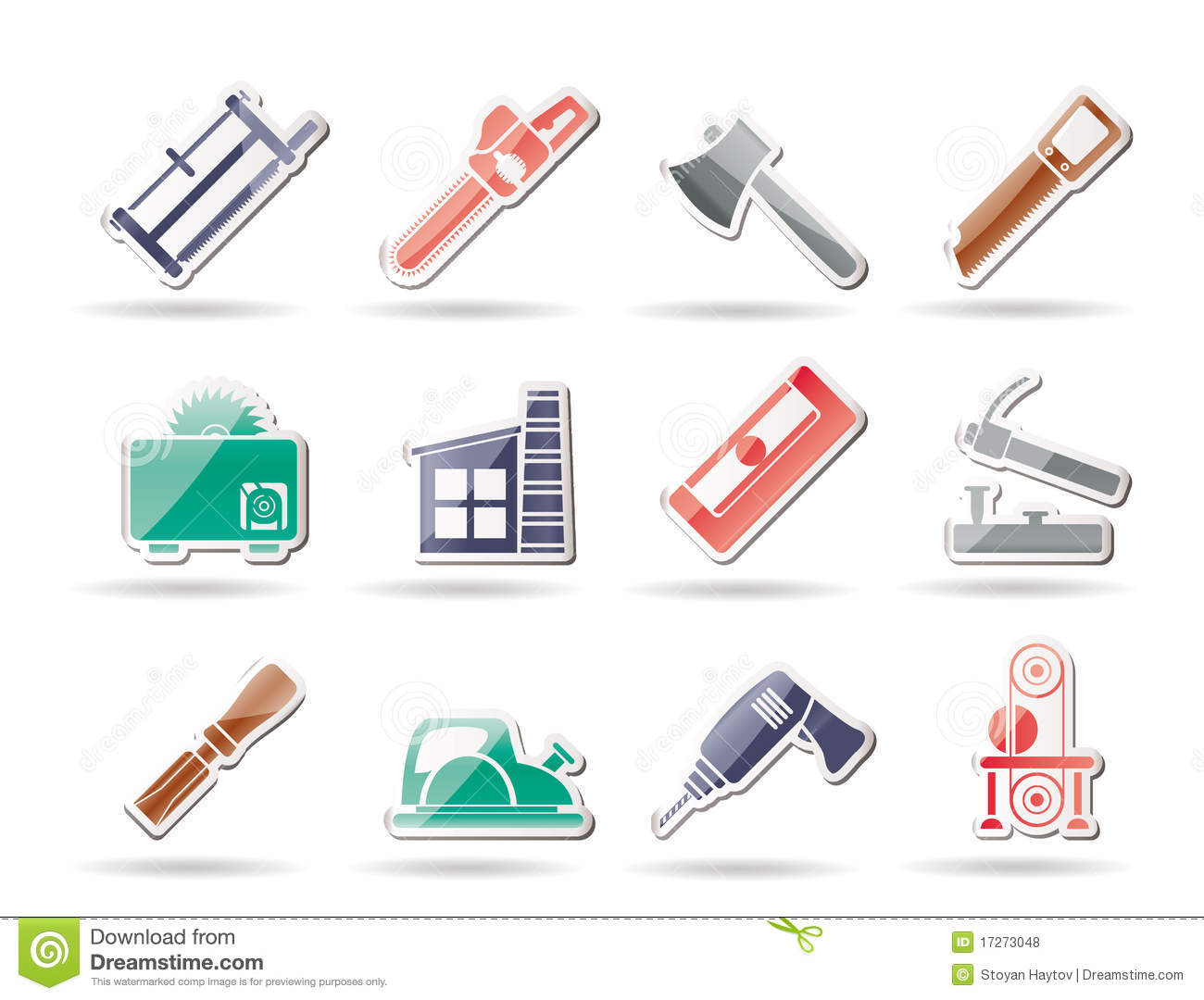 Woodworking Industry And Woodworking Tools Icons Stock Vector - Image: 17273048