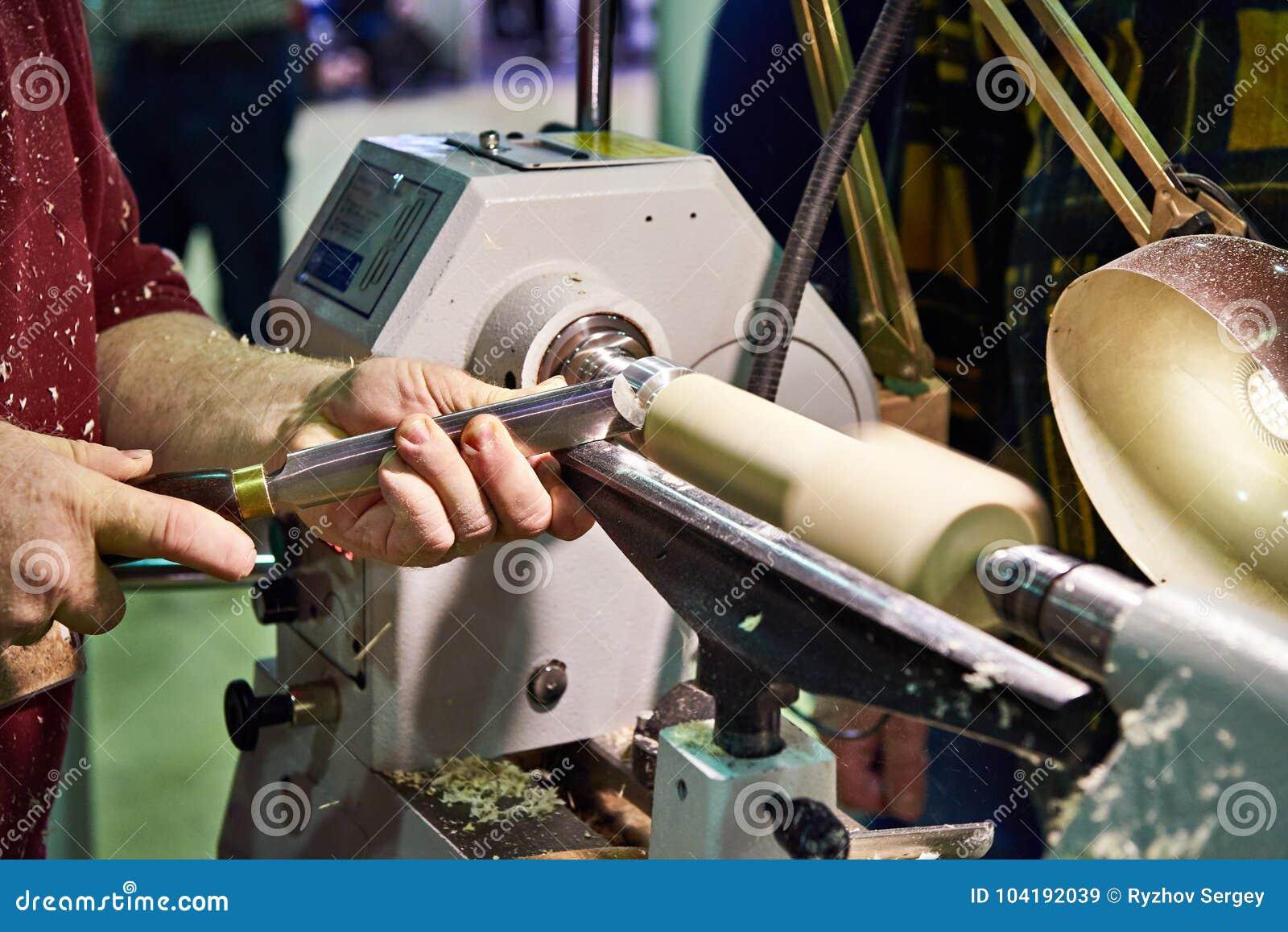 Woodworking On Lathe Stock Image Image Of Woodturning 104192039