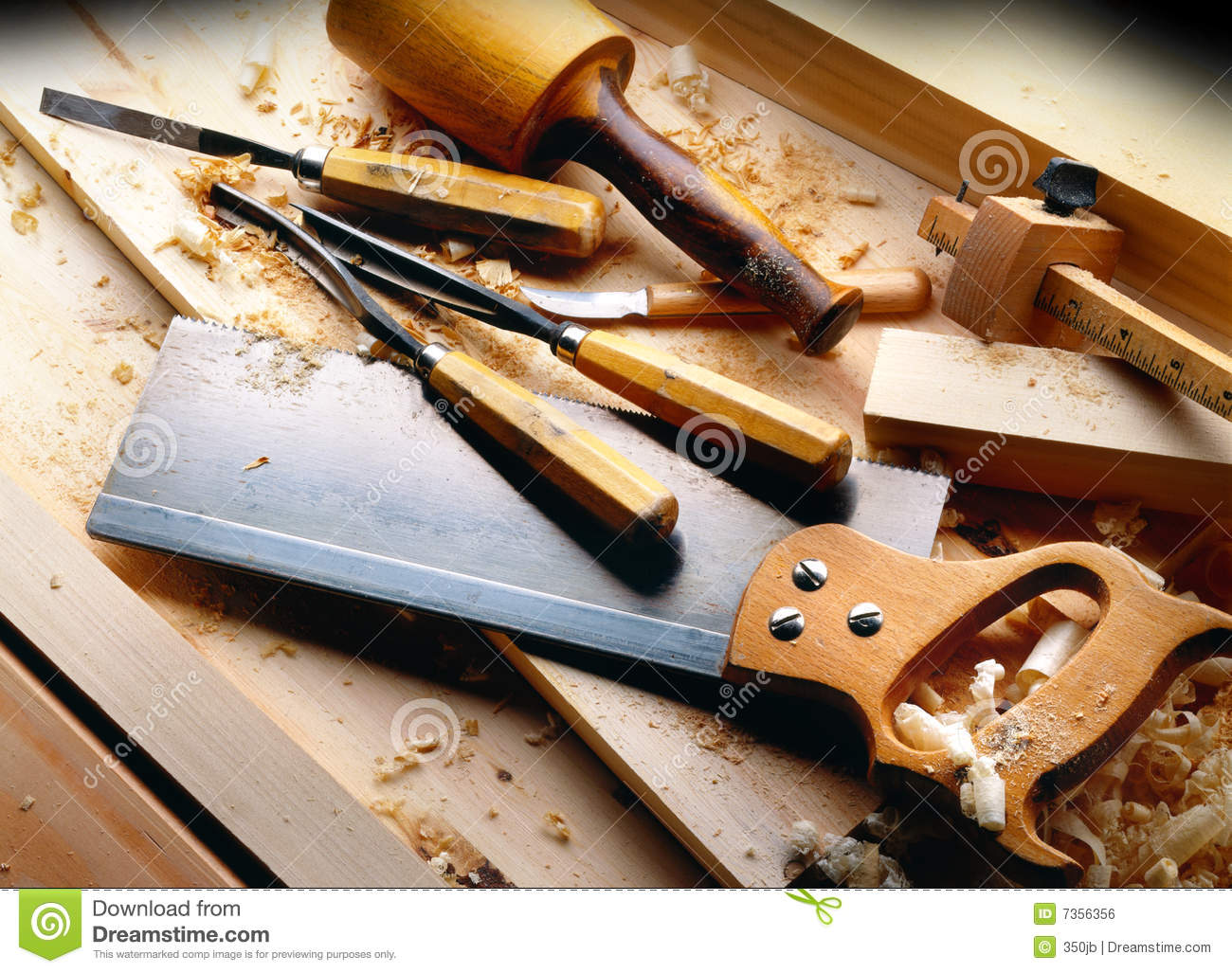 Woodworking Tools Clipart Woodworking tools with wooden