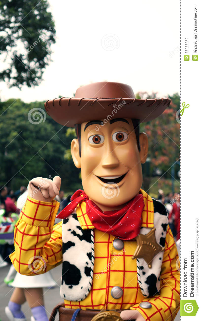 Woody The Cowboy On A Parade In Disneyland Editorial Stock Image ...