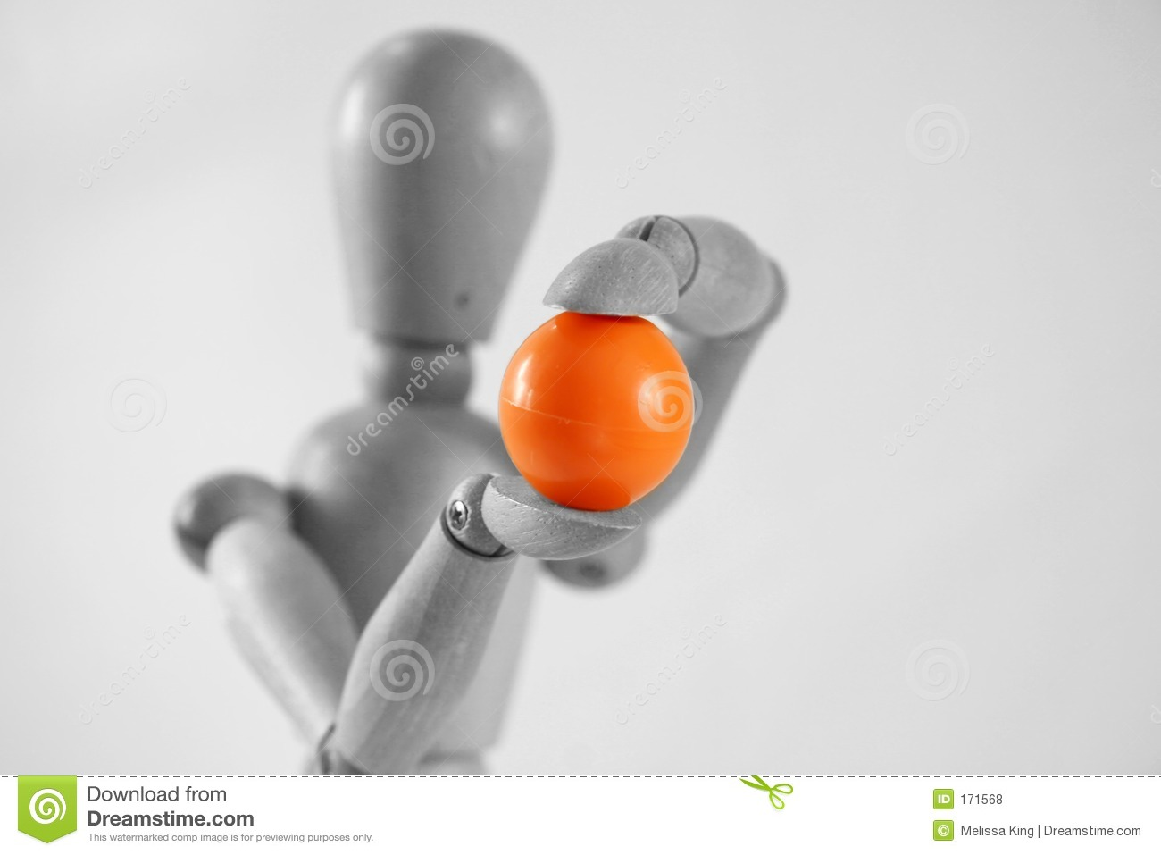 Woody Holding a Orange Ball