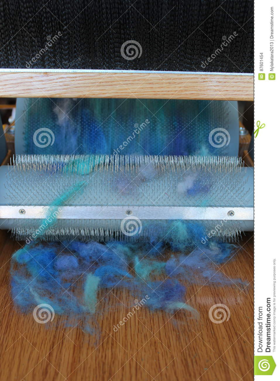 Wool carding stock photo  Image of batts, american, knitters