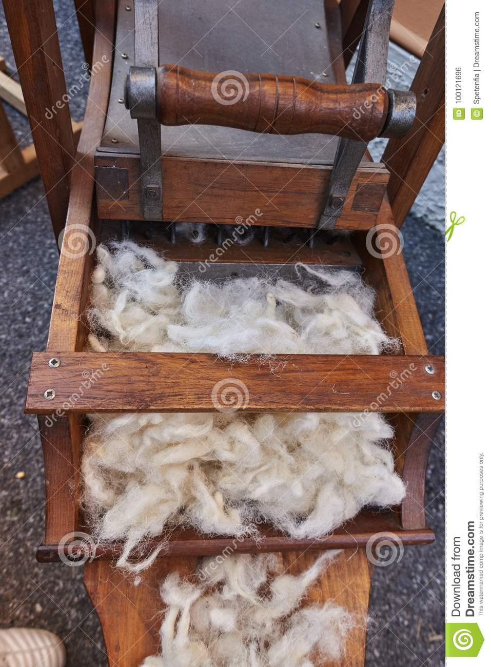 Wool carding stock photo  Image of card, vintage, equipment