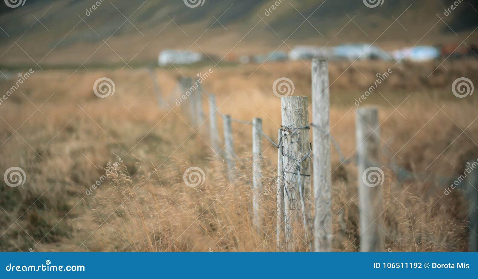 wire farm fence. Royalty-Free Stock Photo Wire Farm Fence