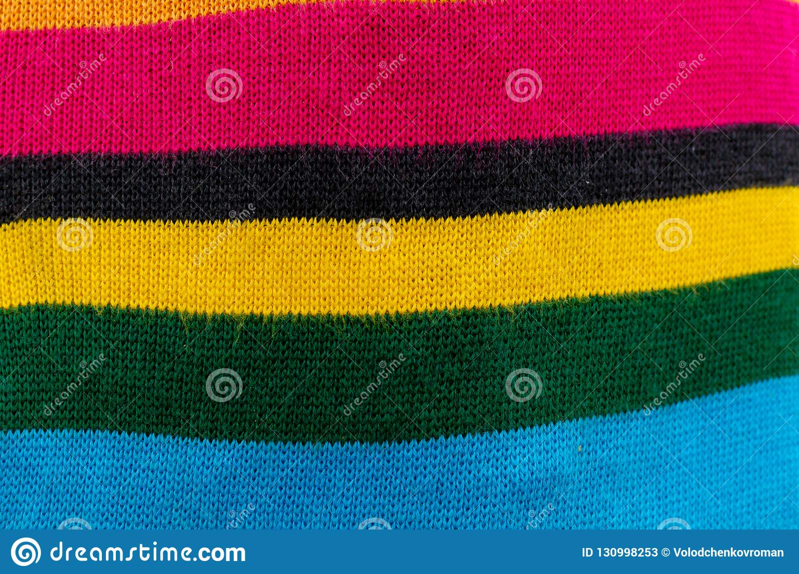 ed048c199b7 Wool Fabric Knitted Of Multi-colored Threads Stock Image - Image of ...