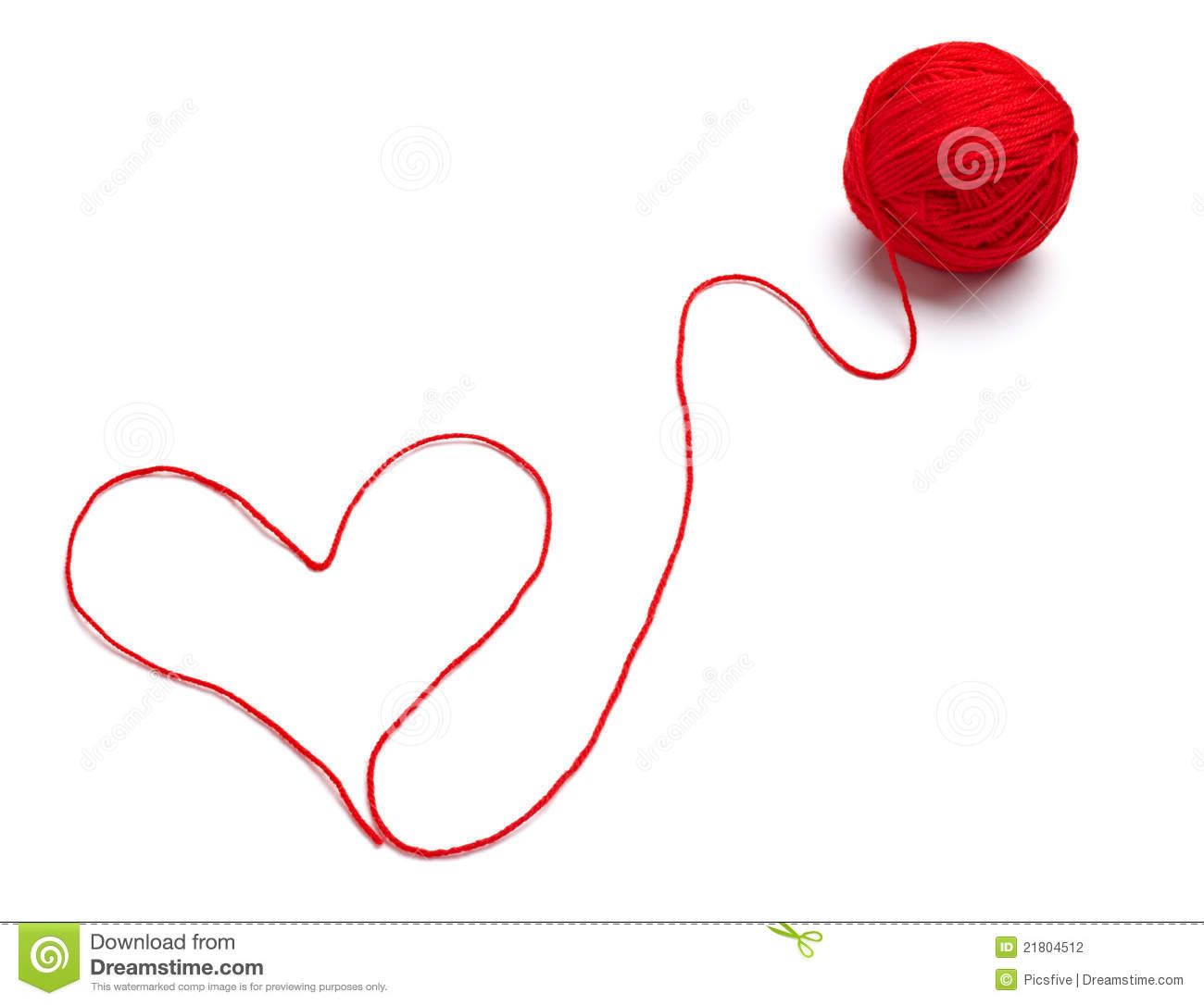 Knitting Pattern For A Heart Shape : Wool Knitting Heart Shape Stock Photography - Image: 21804512